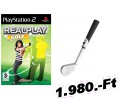 Realplay Golf + golfütő PlayStation 2 Játék