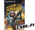 Destroy All Humans! PlayStation 2 Játék