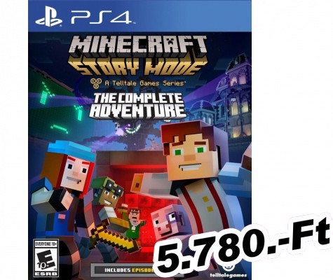 Minecraft Story Mode The Complete Adventure PlayStation 4 Játék