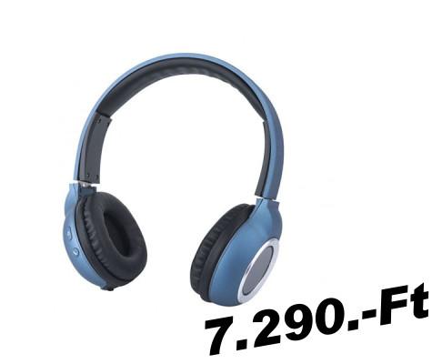 Két füles (sztereó) bluetooth headset Astrum HT300 sztereó kék ... e2f998c2ba