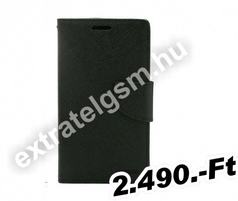 Samsung N970 Galaxy Note 10 Fekete Fancy Diary Notesz Flip Tok